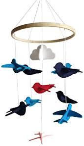 VOSAREA 1pc Wind Chime Cartoon Felt Birds ... - Amazon.com
