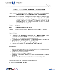 faculty of engineering vacancy for graduate research assistant gra