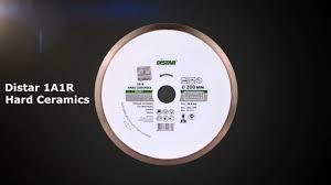 <b>Алмазный диск Distar</b> 1A1R <b>Hard</b> Ceramics 200 мм - YouTube
