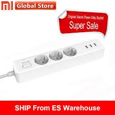 <b>Power Strip Xiaomi</b> Mijia Socket <b>3</b> USB <b>3</b> Sockets <b>Outlet</b> Extension ...