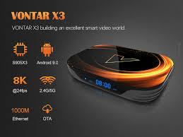 <b>2020</b> VONTAR X3 4GB 128GB 8K <b>TV BOX</b> Android 9 Smart Android ...