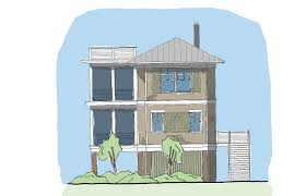 Small Coastal Cottage House Plans   Small Home Collection    Folly River Hammock