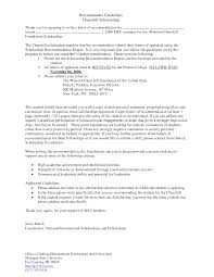 recommendation letter for a scholarship cover letter recommendation letter for a scholarship