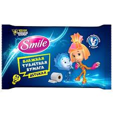 <b>Бумага</b> детская Смаил Беби <b>туалетная</b> влажная (<b>Smile Baby</b> ) 44 ...