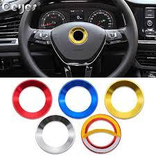 Ceyes <b>Car Styling</b> Steering Wheel Ring <b>Case For</b> Volkswagen Golf ...