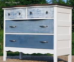 antique dresser painted with blue and white ombre drawers blue and white furniture