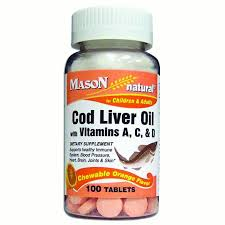 Mason Vitamins <b>Cod Liver Oil</b> With Vitamin A, C, & D <b>Chewable</b> ...