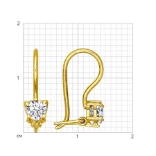 <b>Серьги</b> из <b>желтого</b> золота с фианитами <b>SOKOLOV</b> – купить в ...