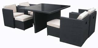 granada rattan garden cubing collection black garden furniture