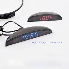 3 in 1 <b>Car Digital</b> Auto <b>Thermometer</b> Voltmeter <b>Clock</b> Volt ...