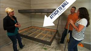floating bunk beds tutorial knock it off diy project build floating