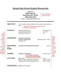 resume template  resume for high school students with no    sample high school student resume key