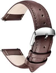Quick Release <b>Leather Watch Strap</b>, SONGDU Grain <b>Genuine</b> ...