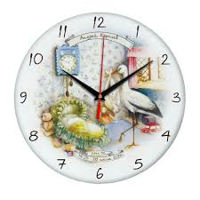 <b>Часы настенные стеклянные Time</b> Wheel под нанесение ...