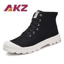 <b>AKZ New Spring</b> Autumn Man Canvas Shoes Denim High Quality ...