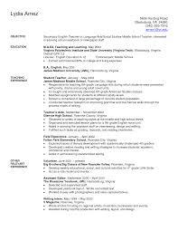 sample secondary exles job special education teacher sample resume