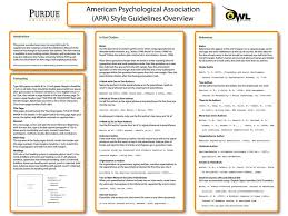APA style guidelines overview poster from OWL at Purdue Pinterest