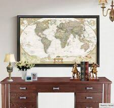 World Map Original Home <b>Décor</b> Posters & <b>Prints</b> for sale | eBay