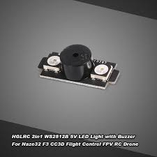 <b>HGLRC</b> 2-in-1 <b>WS2812B</b> 5V <b>LED</b> with Alarm Buzzer Motor Base ...