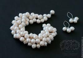 """Купить Колье - <b>браслет</b> """" Королевский """" <b>серебро</b> 925, <b>жемчуг</b> ..."""