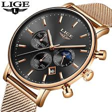 2018 <b>Mens Watches Top</b> Brand Luxury <b>LIGE Men's</b> Casual Fashion ...