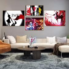 Custom <b>Rwby</b> Future <b>Home Decor</b> Canvas Printing Silk Fabric Print ...