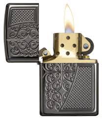 <b>Зажигалка ZIPPO Armor™ с</b> покрытием Black Ice®, латунь/сталь ...