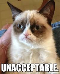 Unacceptable. - Grumpy Cat - quickmeme via Relatably.com