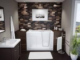 bathroom decor ideas unique decorating: modern small bathroom decorations unique white bath tub white bathroom sink dark finished bathroom vanity
