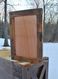 Rustic Wood Medicine Cabinet Barn Wood Mirror Etsy