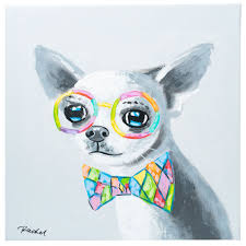 Cute Chihuahua with bow tie. <b>100</b>% <b>hand painted oil</b> on canvas ...