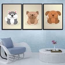 HD Prints Painting Picture <b>Nordic Watercolor</b> Cute <b>Pet Dog</b> Poster ...