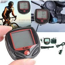 Cycling Bicycle Bike <b>Waterproof Digital LCD</b> Computer Odometer ...