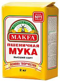 <b>Мука Макфа Пшеничная</b> высший сорт, бумажный пакет — купить ...