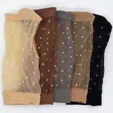 <b>10 Pair</b>/<b>lot</b> Skin Color Dot Transparent Thin Women Crystal Silk ...
