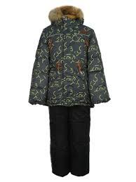 <b>Комплект Oldos</b> Майкл <b>куртка и</b> полукомбинезон темно-серый ...
