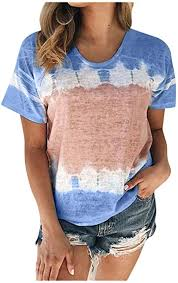Inverlee Womens Summer O-Neck <b>Sexy Gradient Print</b> Regular ...