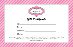 gift certificate templates word excel formats
