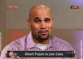 According to Ken Rosenthal, the Chicago Cubs are indeed pursuing both big-time free agent first basemen, Prince Fielder and Albert Pujols. - albert-pujols-the-decision-bleacher-nation