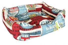 Купить <b>лежак для собак</b> PRIDE <b>Винтаж</b> Британия, 70х60х23см ...