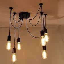 fixtures antique adjustable flush mount pendant light lamp lemonbestreg 6 head e27 vintage diy ceiling chandelier adjustable lighting fixtures