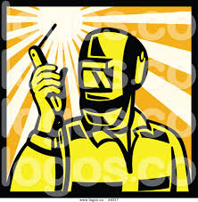 royalty clip art vector logo of a welder holding a torch royalty clip art vector logo of a welder holding a torch torch in a square