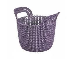 Корзина Curver круглая Knit XS 3л фиолетовый - Все для дома