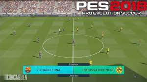 PES <b>2018</b> Official Gameplay Barcelona vs Borussia Dortmund (Xbox ...