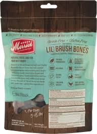 merrick lil brush bones grain dental chews dog treats  merrick lil brush bones grain dental chews dog treats