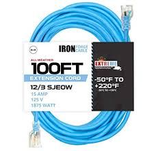 100 Ft All Weather <b>Extension Cord</b> - Stays <b>Flexible</b> in Extreme Cold ...