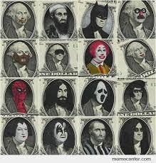dollar bill faces by ben - Meme Center via Relatably.com
