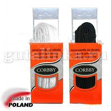 <b>CORBBY Шнурки 90см</b> плоские черные белые — Гуталинка