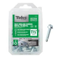 Teks #14 1-1/2 in. <b>External Hex</b> Flange <b>Hex</b>-Head <b>Self</b>-<b>Drilling</b> Screws