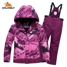 <b>VALIANLY 2019 Winter</b> Ski Suit Girls Ski Jacket + Strap Pants <b>Winter</b> ...